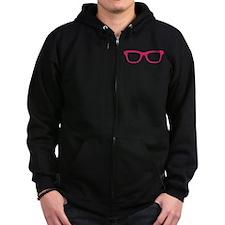 Geek Glasses Zip Hoodie
