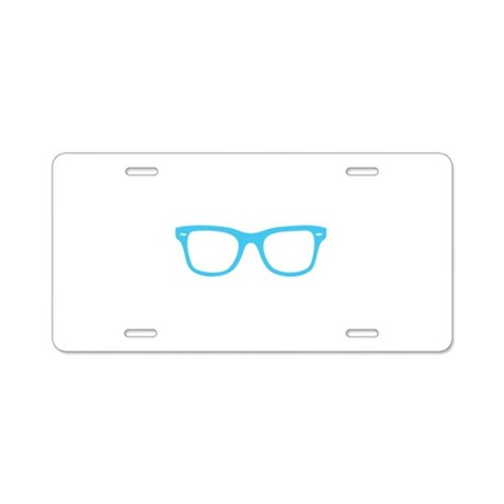 Geek Glasses Aluminum License Plate