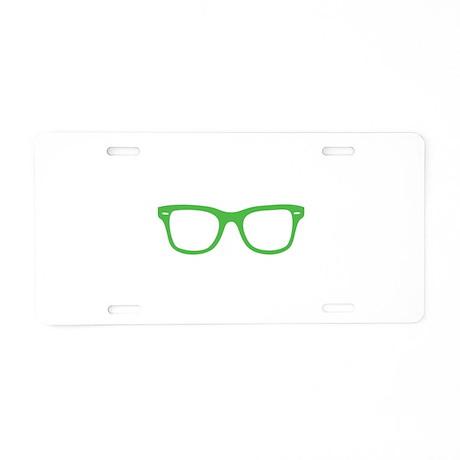 Geek Glasses Aluminum License Plate