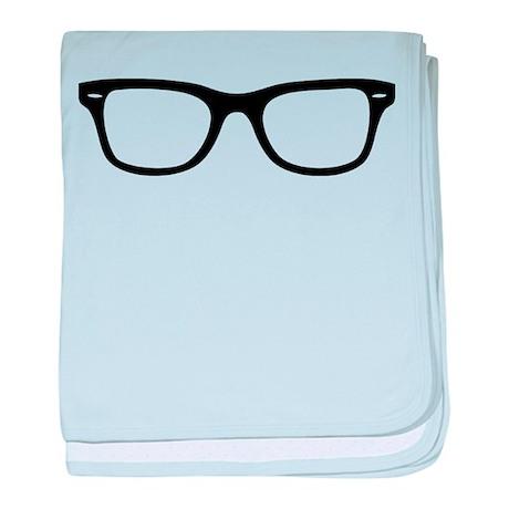 Geek Glasses baby blanket