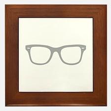 Geek Glasses Framed Tile