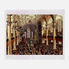 St Martins in the Fields 1809 Throw Blanket