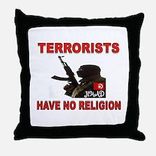 TERRORIST USA Throw Pillow