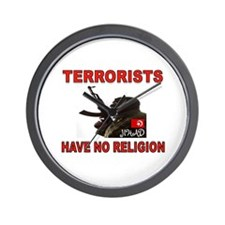 TERRORIST USA Wall Clock