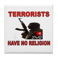 TERRORIST USA Tile Coaster