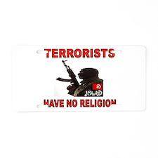 TERRORIST USA Aluminum License Plate