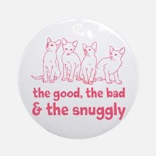 The Snuggly (pink) Ornament (Round)