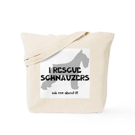 I RESCUE Schnauzers Tote Bag