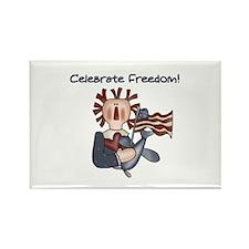 Celebrate Freedom Rectangle Magnet