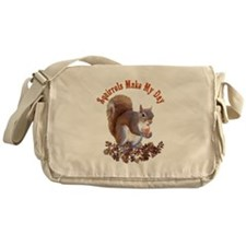 Squirrel Day Messenger Bag
