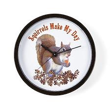 Squirrel Day Wall Clock