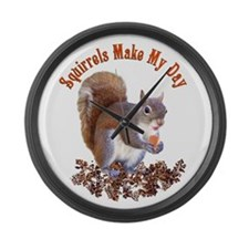 Squirrel Day Large Wall Clock