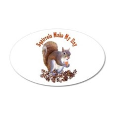 Squirrel Day 22x14 Oval Wall Peel
