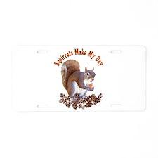 Squirrel Day Aluminum License Plate