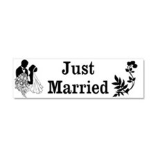 Just Married Car Magnet 10 x 3