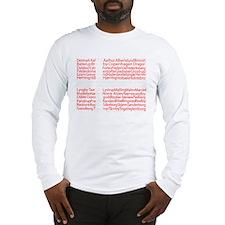 Danish Cities Flag Long Sleeve T-Shirt