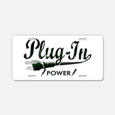 Plug-In Power Aluminum License Plate