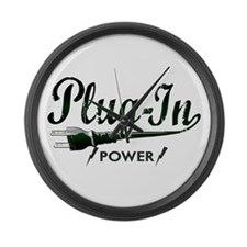 Plug-In Power Large Wall Clock