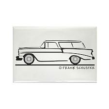 1956 Chevrolet Bel Air Nomad Rectangle Magnet
