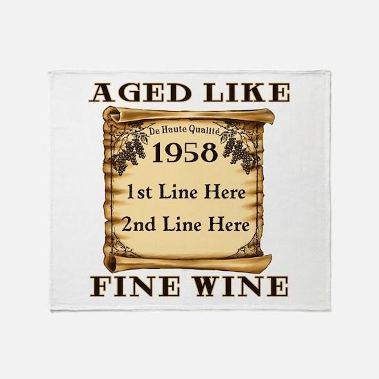 Fine Wine 1958 Throw Blanket