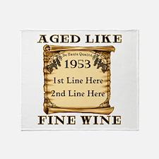 Fine Wine 1953 Throw Blanket