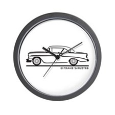 1956 Chevrolet Bel Air Sport Sedan Wall Clock