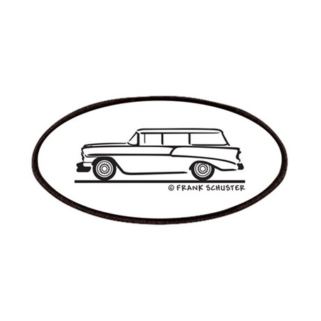 1956 chevrolet bel air station wagon patches by frankschuster
