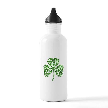 Irish Shamrock Skulls Stainless Water Bottle 1.0L