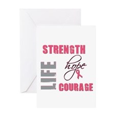 Strength Hope Life Greeting Card