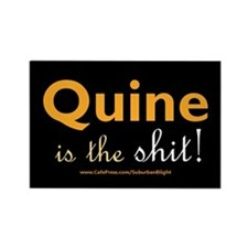 """""""Quine Is The Shit!"""" Rectangle Magnet"""