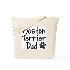 Boston Terrier DAD Tote Bag