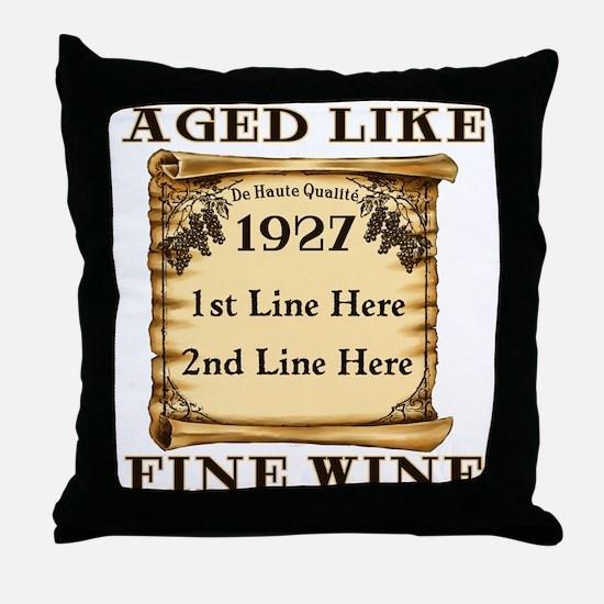 Fine Wine 1927 Throw Pillow