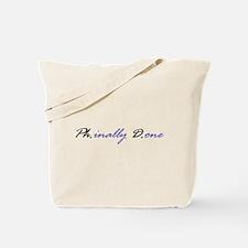 Cute Doctorate Tote Bag