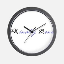 Funny Phd Wall Clock