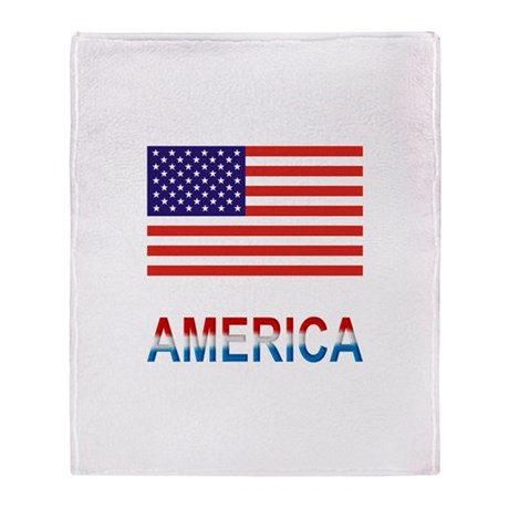 America Throw Blanket