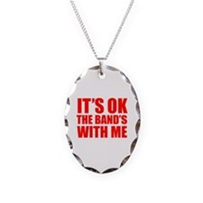 The band's with me Necklace Oval Charm