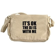 The dj is with me Messenger Bag