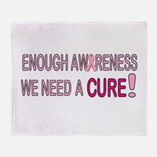 Enough Awareness Throw Blanket