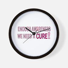 Enough Awareness Wall Clock
