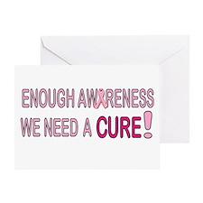 Enough Awareness Greeting Card