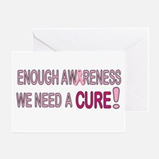 Enough Awareness Greeting Card