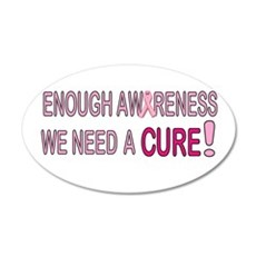 Enough Awareness 22x14 Oval Wall Peel