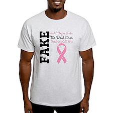 Yeah Fake Breast Cancer T-Shirt
