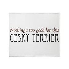 NTG-Cesky Terrier Throw Blanket