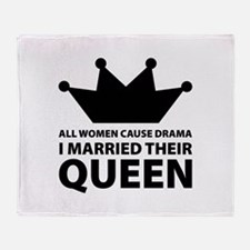 Drama Queen Throw Blanket
