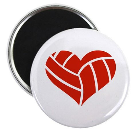 """Volleyball heart 2.25"""" Magnet (100 pack)"""