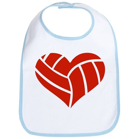 Volleyball heart Bib