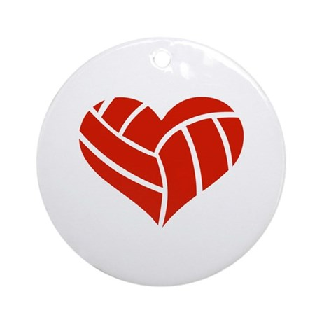 Volleyball heart Ornament (Round)