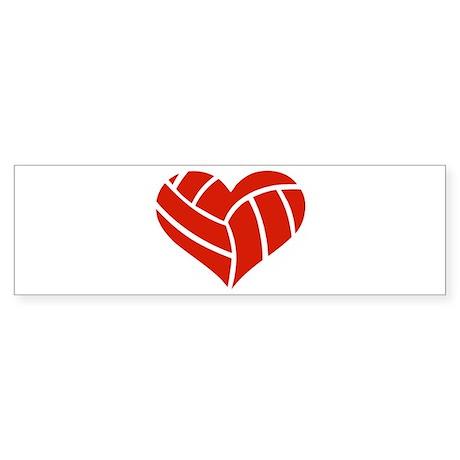 Volleyball heart Sticker (Bumper)