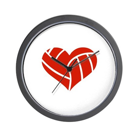 Volleyball heart Wall Clock